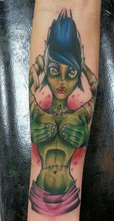Hot Zombie Girl Tattoo