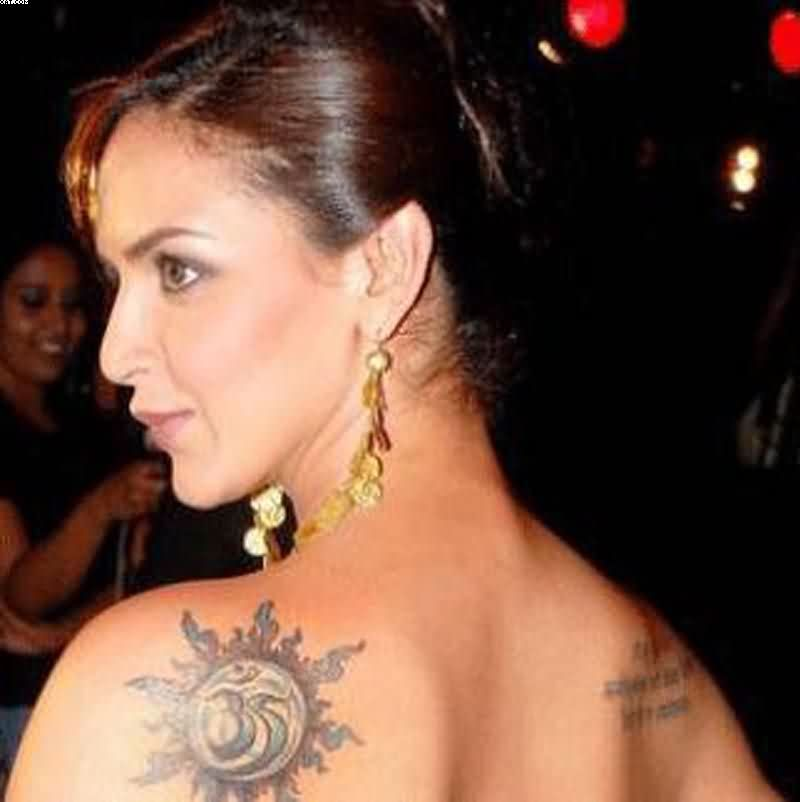 Indian Celebrity Back Shoulder Tattoo For Women