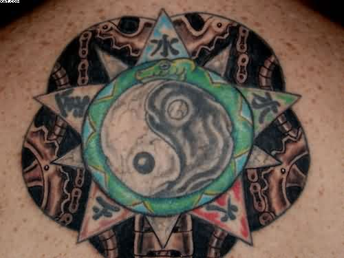 Intricate Yin Yang Tattoo