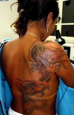 Japanese Dragon Tattoos On Back For Women