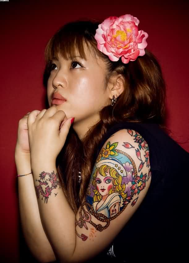 Japanese Inspiring Tattoo For Women