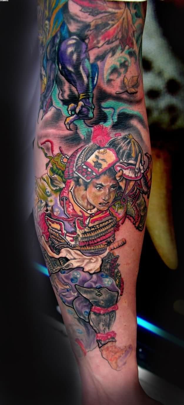 Japanese Samurai Tattoo On Arm