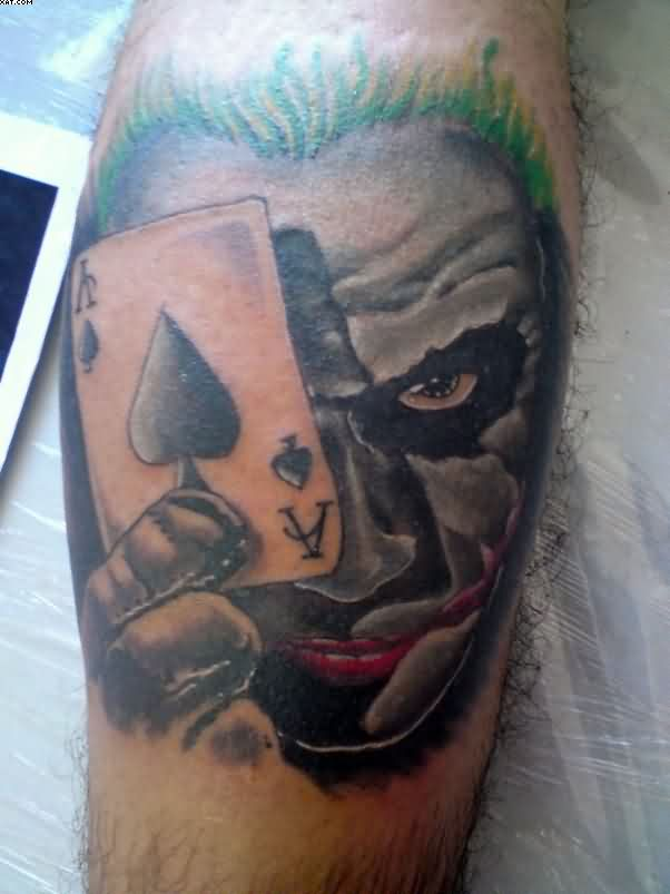 Joker Eye Playing Card Tattoo