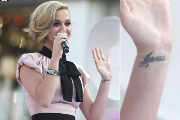 Katy Perry Wrist Tattoo
