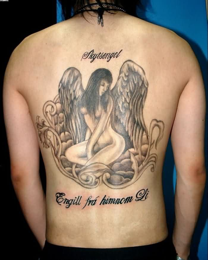 Ladies Angel Wing Tattoos For Men