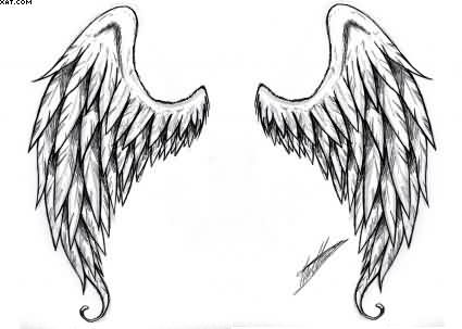 Latest Angel Wings Tattoo Design