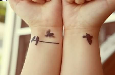 Little Birds Tattoos For Wrist