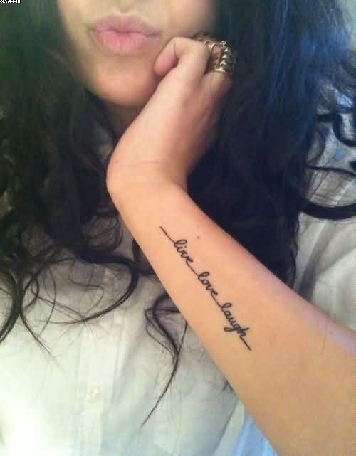 Live Love Laugh Wrist Tattoo For Girls