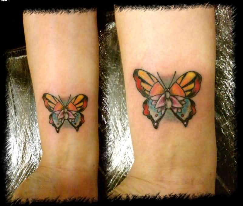 Lovely Butterfly Wrist Tattoos