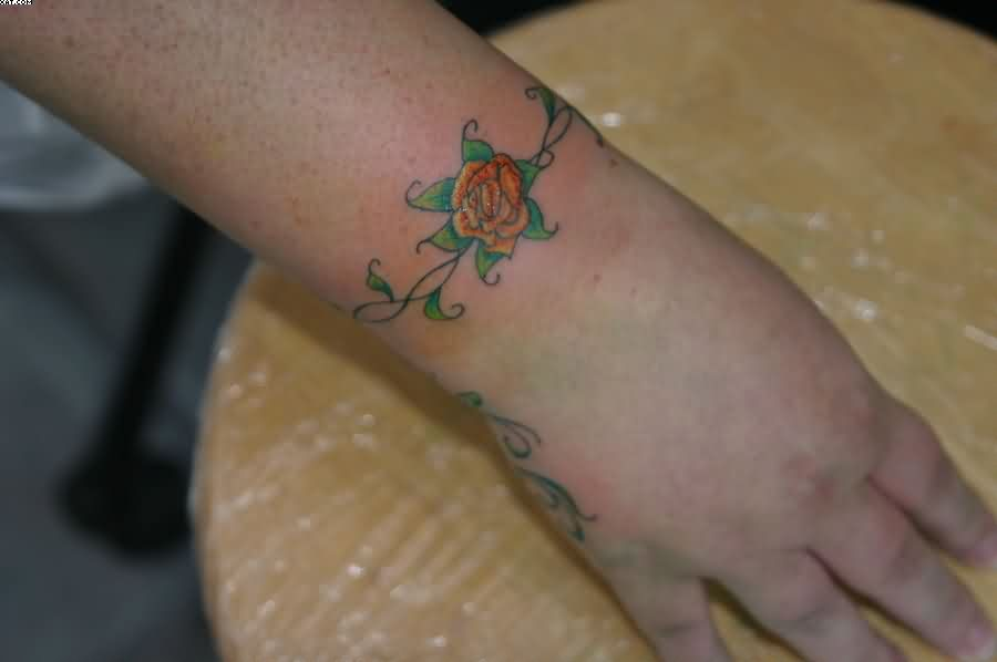 Lovely Rose Wrist Tattoo