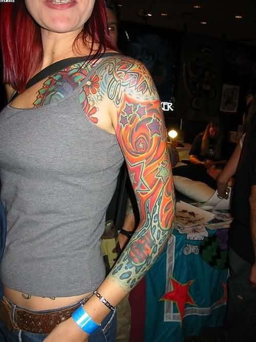 Lovely Sleeve Tattoos For Women