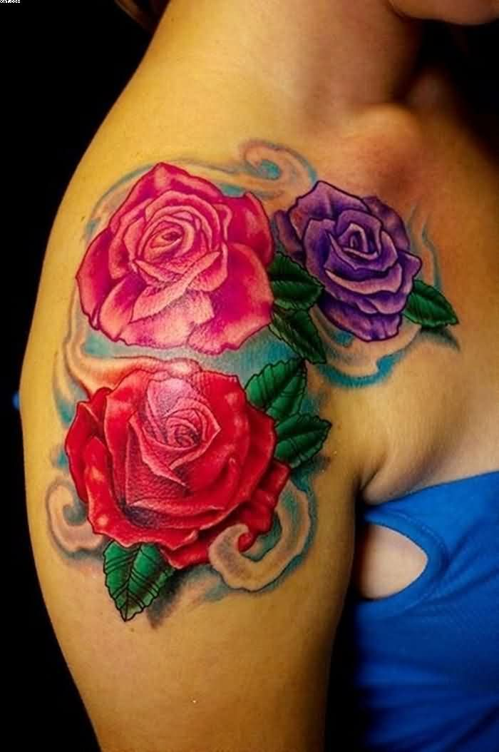 Lovely Women Tattoos On Shoulder