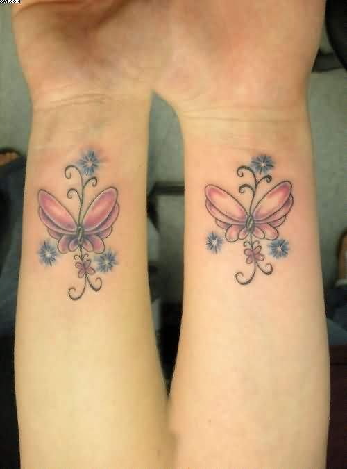 Lovely Wrist Butterfly Tattoos