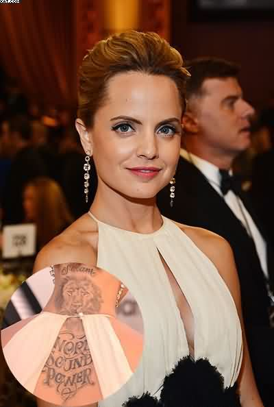 Mena Suvari Lion Word Sound Power Tattoo