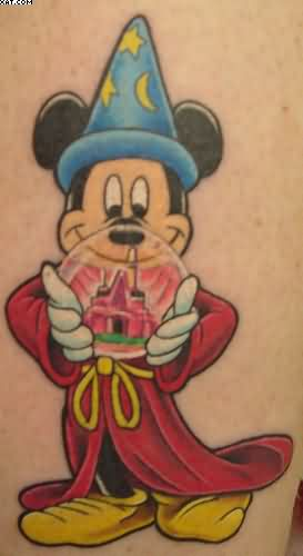 Mickey Wizard Tattoo