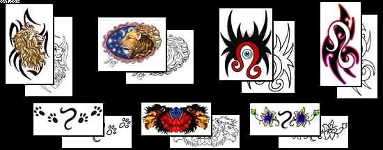 More Leo Tattoo Designs
