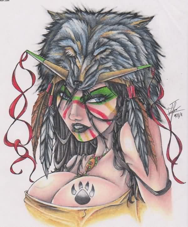 Wolf Tattoos, Designs And Ideas : Page 46
