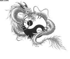 New Dragon Ying Yang Tattoo Stencil