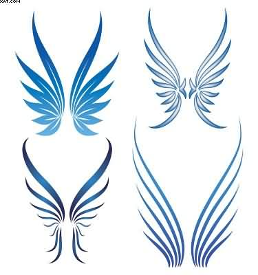 New Wings Tattoo Set
