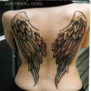 Nice Angel Wings Tattoos On Back For Women