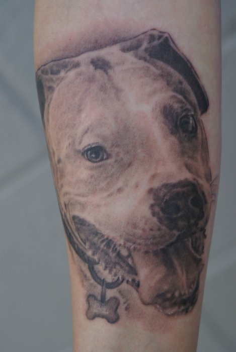 Nice Wildlife Dog Tattoo