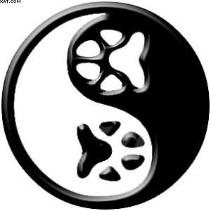 Paw Print Yin Yang Tattoo Version