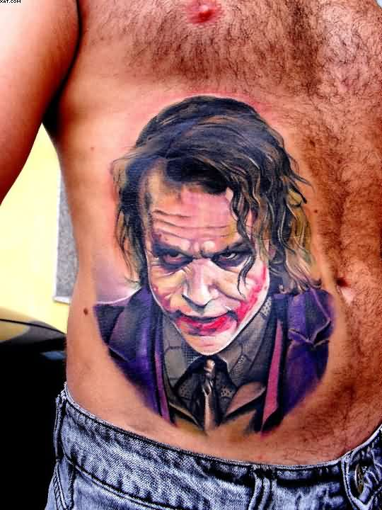 Ppopular Batman Joker Tattoo On Stomach