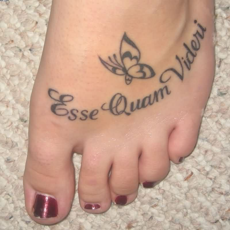 Quote Foot Tattoo For Women