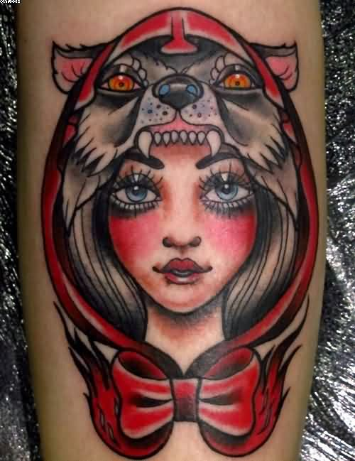 Red Riding Hood Wolf Tattoo