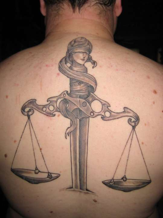 Scales Of Justice Tattoo On Justice Symbol Tattoos