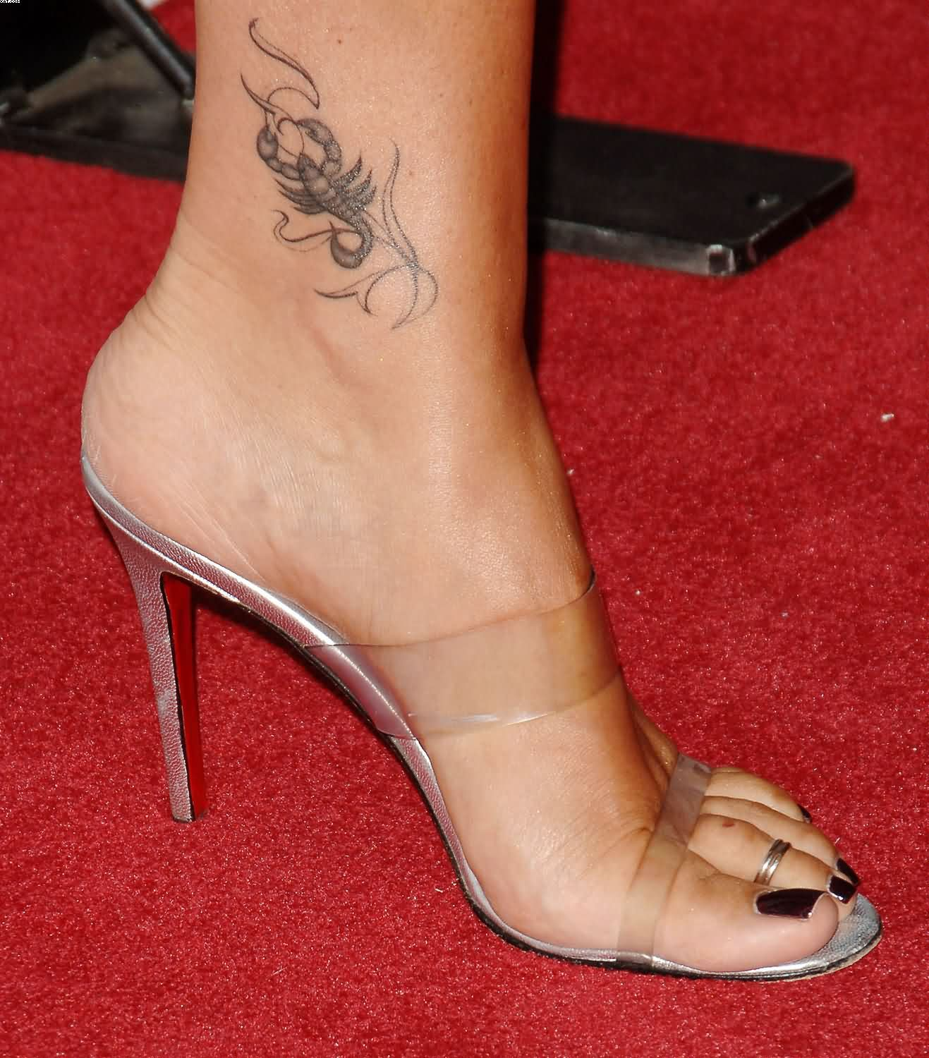 Scorpion Ankle Tattoo For Women