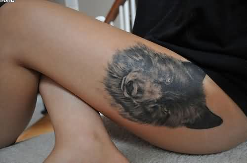 Sexy Wolf Tattoo For Women