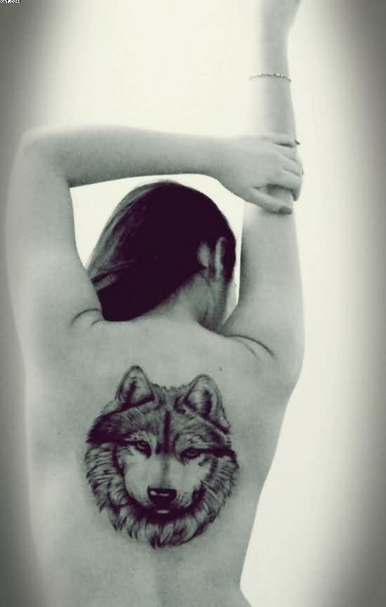 Sexy Wolf Tattoo On Back Of Body