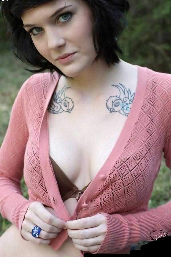 Sexy Women Chest Tattoos