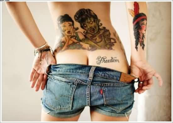 Sexy Zombie Tattoos For Girls