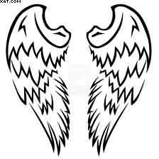 Simple Angel Wings Tattoo Design