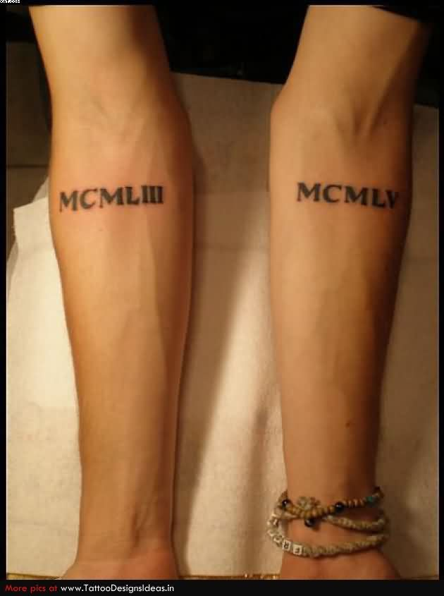 Small Black Ink Words Tattoos On Arms