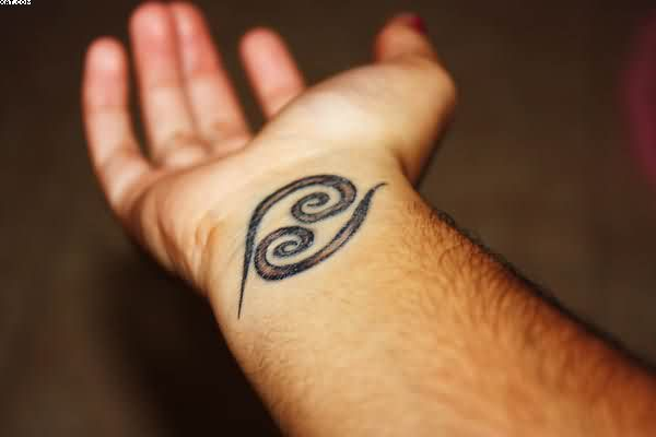 Sunshine Symbol Tattoo On Inner Wrist