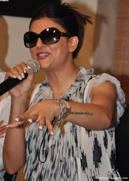 Sushmita Sen Right Wrist Tattoo