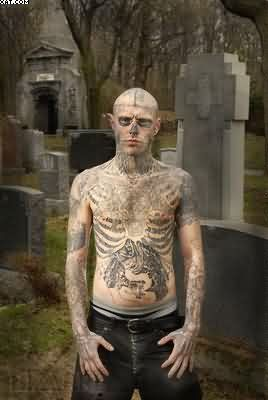 Tattooed Zombie Boy