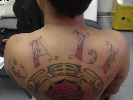 Trendy Words Tattoos On The Back
