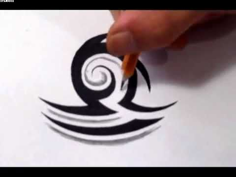 Tribal Libra Tattoo Design In Progress