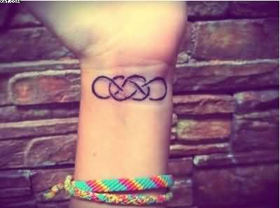 Triple Infinity Knot Tattoo On Wrist