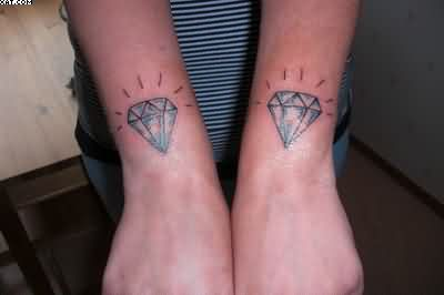 Twin Diamond Tattoos On Wrist