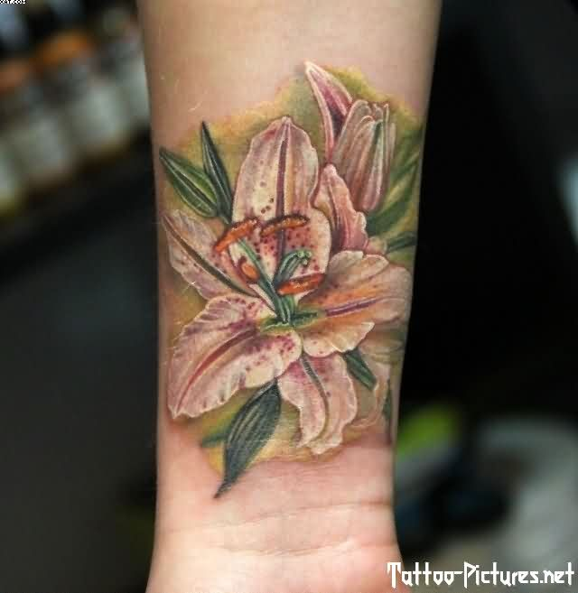 Ultimate Lily Tattoo On Wrist