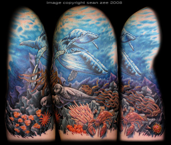 Underwater Half Sleeve Tattoos