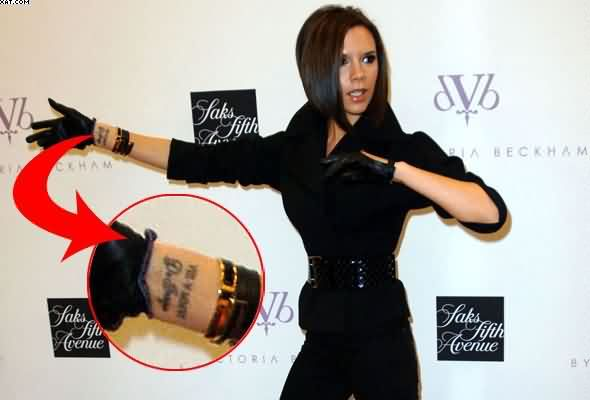 Victoria Beckham Words Tattoos