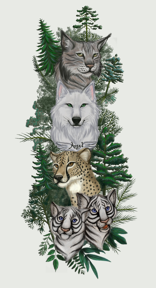 Wild Animals Sleeve Tattoo Design