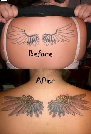 Wings Tattoo Stages