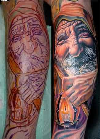 Wizard Portrait Tattoos